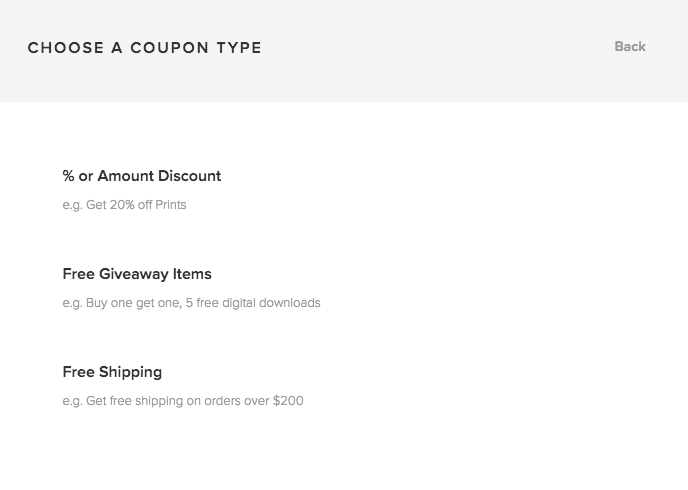 how do i create and manage coupons pixieset help center
