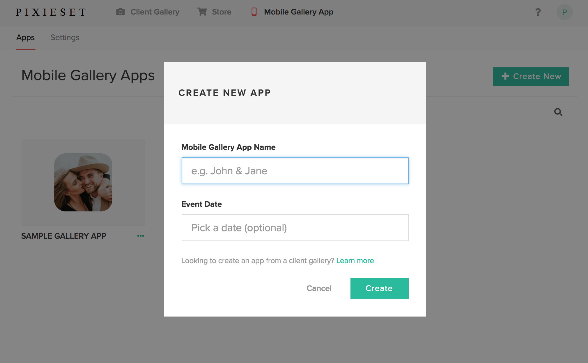 how to create mobile app with database
